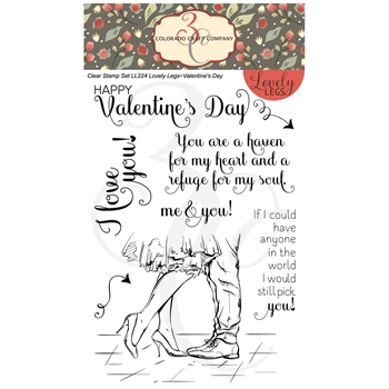 Colorado Craft Company Lovely Legs VALENTINE'S DAY Clear Stamps LL224