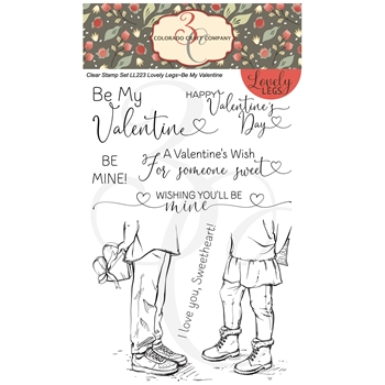 Colorado Craft Company Lovely Legs BE MY VALENTINE Clear Stamps LL223