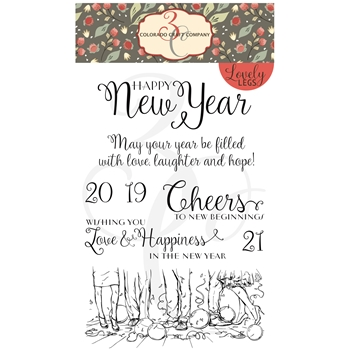 Colorado Craft Company Lovely Legs HAPPY NEW YEAR Clear Stamps LL222