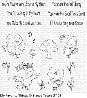 My Favorite Things TWEET FRIENDS Clear Stamps SY03