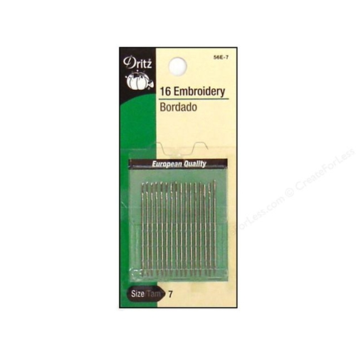 Dritz 16 EMBROIDERY NEEDLES Size 7 56e7 Preview Image