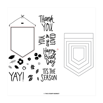 The Stamp Market BANNERS FOR YOU Stamp & Cut Bundle tsm004b