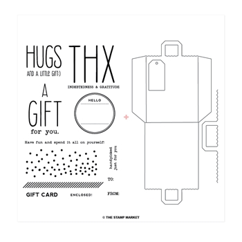 The Stamp Market GIFT FOR YOU Stamp & Cut Bundle tsm028b
