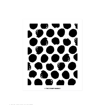 The Stamp Market PAINTED POLKA DOT Clear Stamp Set tsm056