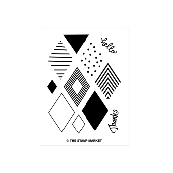 The Stamp Market DETAILED DIAMONDS Clear Stamp Set tsm019