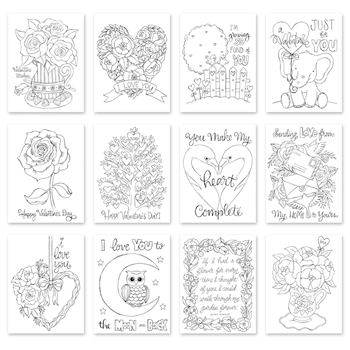 Simon Says Stamp Suzy's SENDING LOVE Watercolor Prints szval19