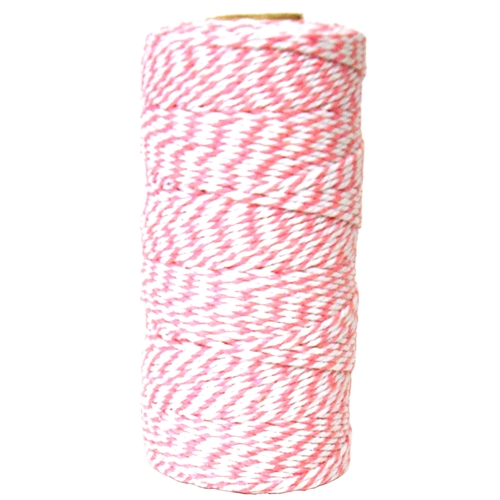May Arts PINK Baker's Twine Twisted Ribbon 4120217 Preview Image