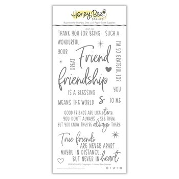 Honey Bee FRIENDSHIP Clear Stamp Set hbst-152
