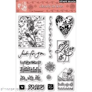 Penny Black Clear Stamps CLEARLY IN LOVE 30-009