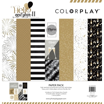 PhotoPlay HELLO NEW YEAR II 12 x 12 Collection Pack ColorPlay hny9208