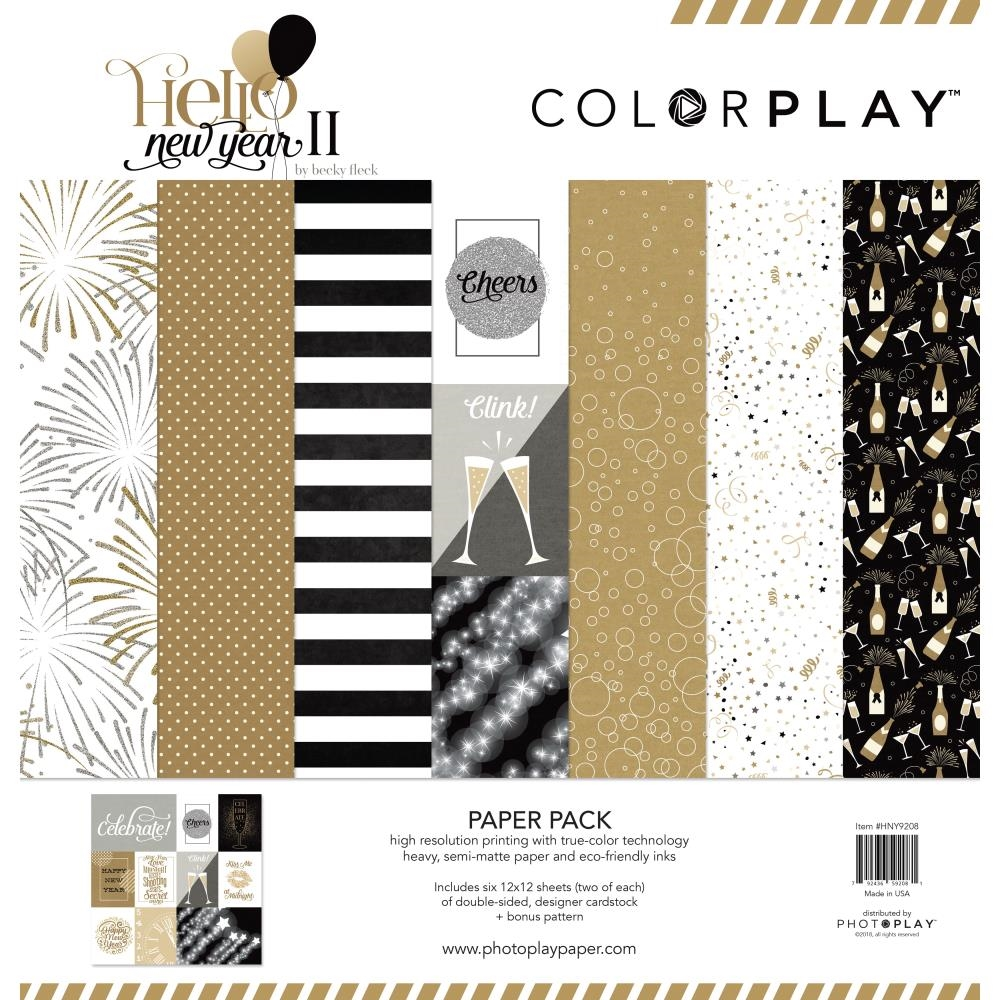 PhotoPlay HELLO NEW YEAR II 12 x 12 Collection Pack ColorPlay hny9208 zoom image