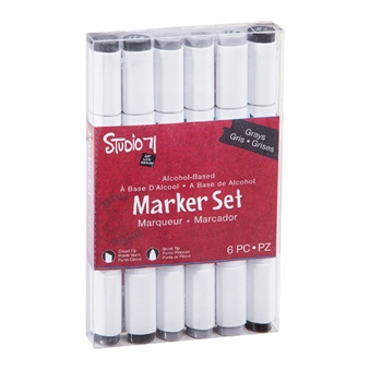 Studio 71 GRAYS 6 Piece Marker Set 30038419