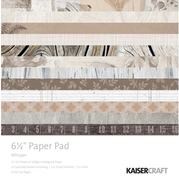 Kaisercraft WHISPER 6.5 Inch Paper Pad PP1060
