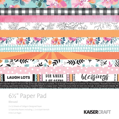 Kaisercraft BLESSED 6.5 Inch Paper Pad PP1059 Preview Image