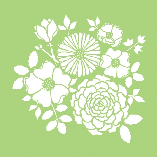 Kaisercraft BOUQUET 6x6 Inch Designer Stencil Template IT482 Preview Image