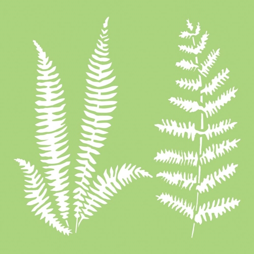 Kaisercraft FERNS 6x6 Inch Designer Stencil Template IT483 Preview Image