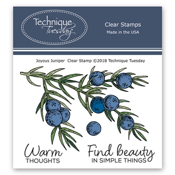 Technique Tuesday JOYOUS JUNIPER Clear Stamps 02746