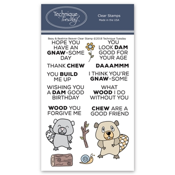 Technique Tuesday BEAU AND BEATRICE Clear Stamps 02731