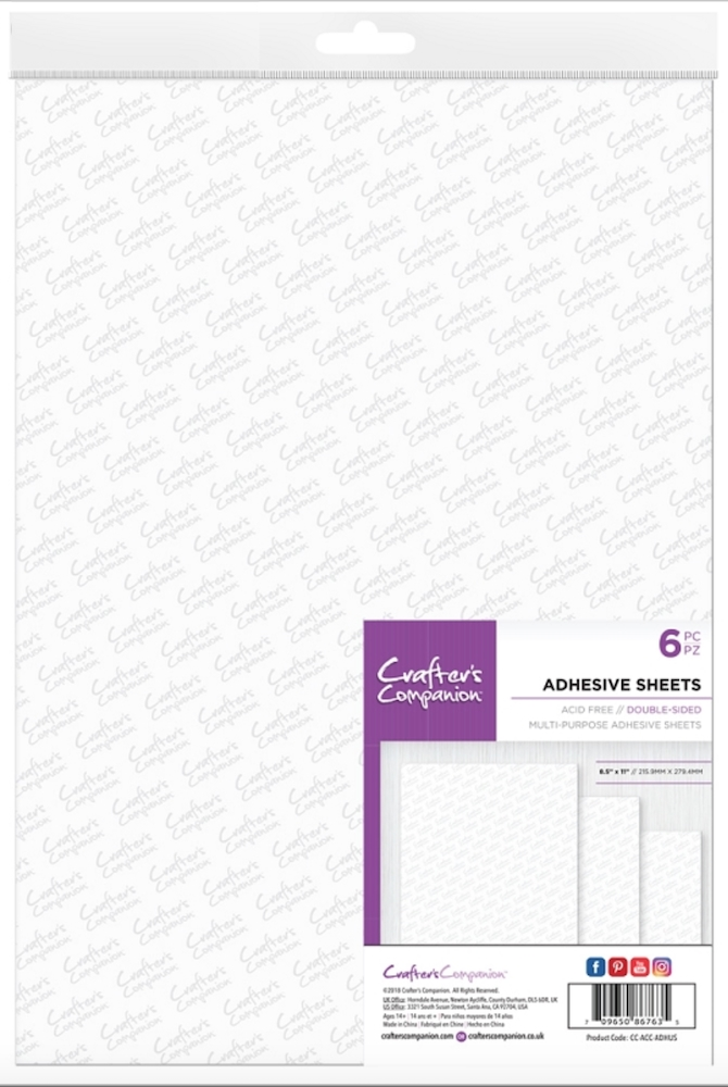 Crafter's Companion DOUBLE SIDED ADHESIVE SHEETS cc-acc-adhus zoom image