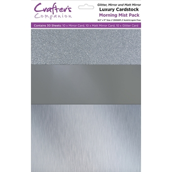 Crafter's Companion MORNING MIST Luxury Cardstock Pack cp-lmix-mist811