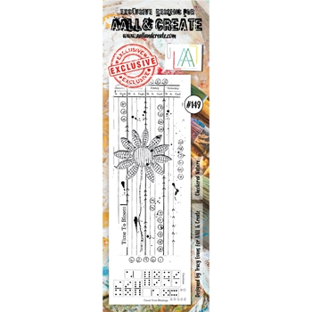 AALL & Create CHECKERED NATURE 149 Clear Stamp aal00149