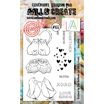 AALL & Create LOVE BIRDS Clear Stamp Set aal00155