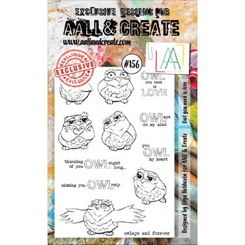 AALL & Create OWL YOU NEED IS LOVE Clear Stamp Set aal00156