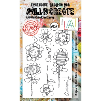 AALL & Create FREESTYLE FLOWERS Clear Stamp Set aal00158