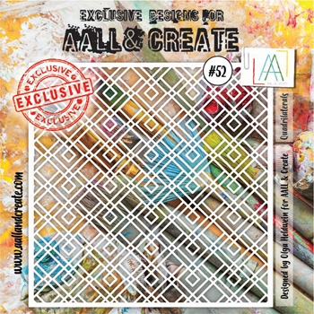 AALL & Create QUADRILATERALS Stencil aal10052