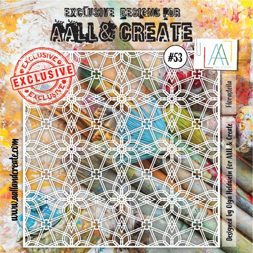 AALL & Create FLORASTELLA Stencil aal10053 Preview Image