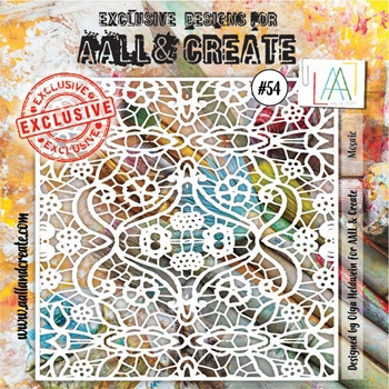 AALL & Create MOSAIC Stencil aal10054