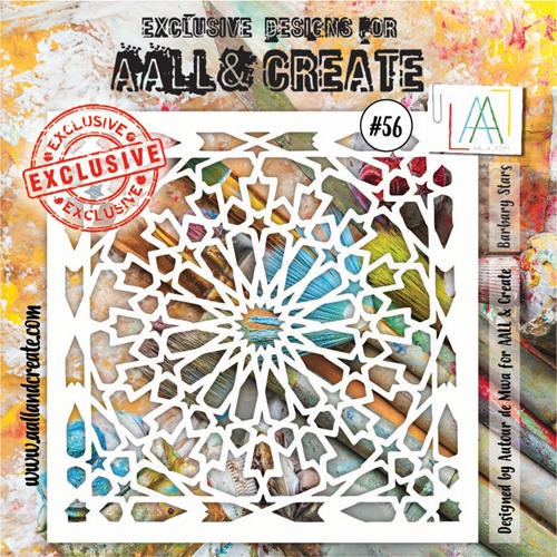AALL & Create BARBARY STARS Stencil aal10056 Preview Image