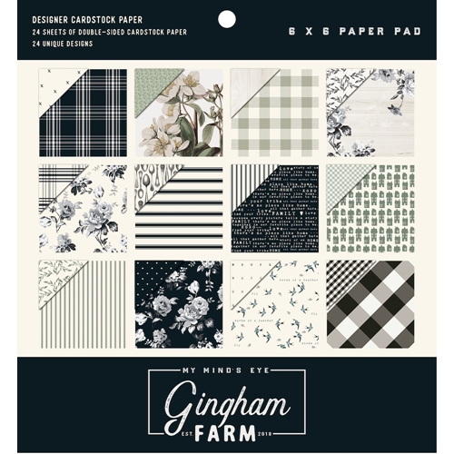 My Mind's Eye 6 x 6 GINGHAM FARM Paper Pad ghf110 Preview Image