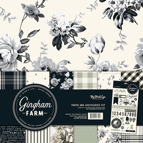 My Mind's Eye GINGHAM FARM 12 x 12 Paper And Accessories Kit ghf111 Preview Image