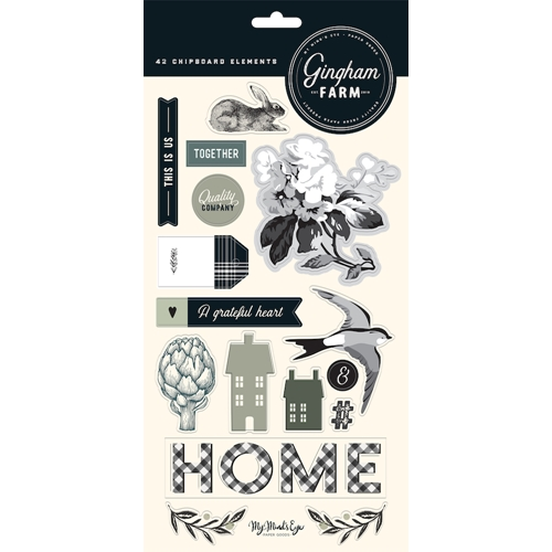 My Mind's Eye GINGHAM FARM 6 x 12 Chipboard Elements ghf113 Preview Image