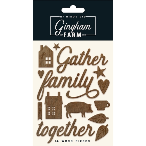 My Mind's Eye GINGHAM FARM Wood Shapes ghf118 Preview Image