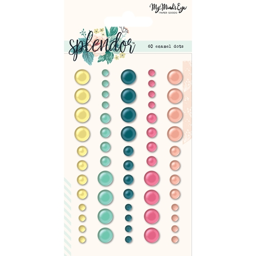 My Mind's Eye SPLENDOR Enamel Dots spl114 Preview Image
