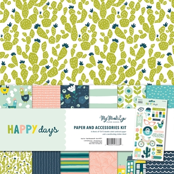 My Mind's Eye HAPPY DAYS 12 x 12 Paper And Accessories Kit hpd111