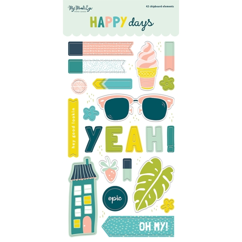 My Mind's Eye HAPPY DAYS 6 x 12 Chipboard Elements hpd113 Preview Image