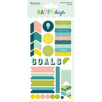 My Mind's Eye HAPPY DAYS Planner Sticker Set hpd121