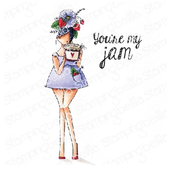 Stamping Bella Cling Stamp CURVY GIRL LOVES JAM eb766