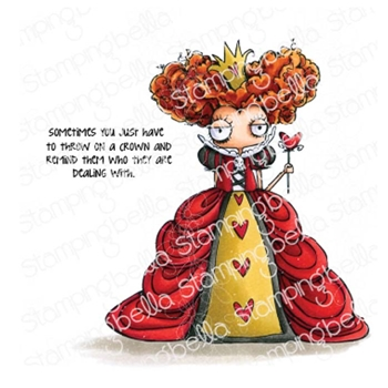 Stamping Bella Cling Stamp ODDBALL QUEEN OF HEARTS eb774