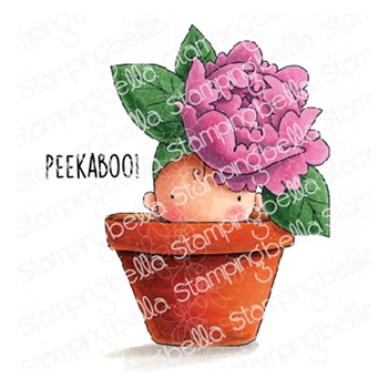 Stamping Bella Cling Stamp PEONY BABY IN A POT eb776