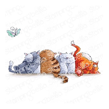 Stamping Bella Cling Stamp SQUISHY CATS eb780