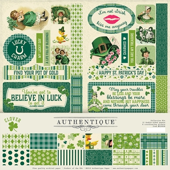 Authentique CLOVER 12 x 12 Collection Kit clv008