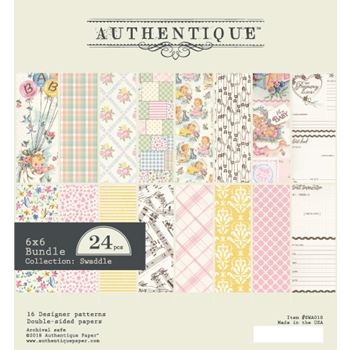 Authentique 6 x 6 SWADDLE GIRL Paper Pad swa010