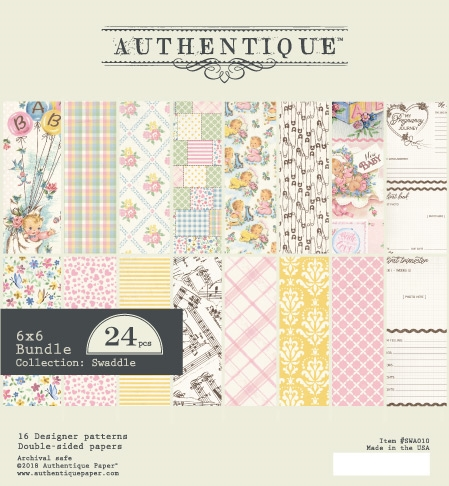 Authentique 6 x 6 SWADDLE GIRL Paper Pad swa010 zoom image