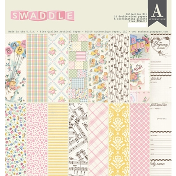 Authentique SWADDLE GIRL 12 x 12 Collection Kit swa011