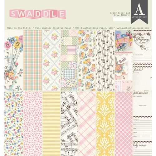 Authentique SWADDLE GIRL 12 x 12 Paper Pad swa012 Preview Image