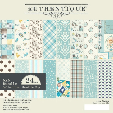 Authentique 6 x 6 SWADDLE BOY Paper Pad swa210 Preview Image